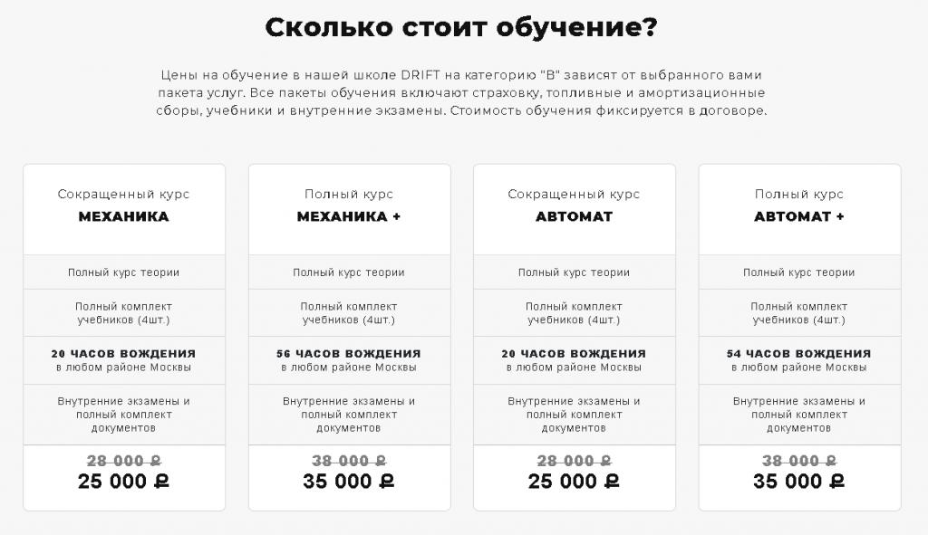 Автошкола в Москве стоимость обучения